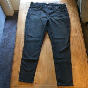 Levi's Shaping Super Skinny Jeans Black
